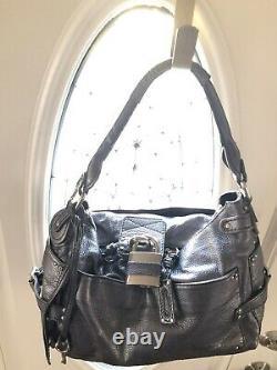 $1250 Chloe Rare Vintage Silver Pebbled Leather Paddington Hobo/Satchel Bag
