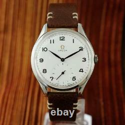 1947' Vintage Omega 2505 Large 38mm St Steel Manual Wind Authentic Gents Watch