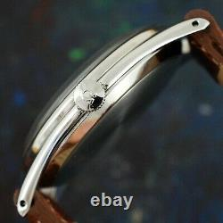 38 MM Large Omega Authentic Ref 2505 Manual Wind Steel Gents Watch Vintage 1947