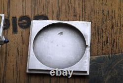 70's ELEGANT CARTIER SILVER 925 28mm LARGE SQUARE GENTS WORKING FINE
