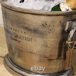 Alfred Gratien Large Vintage Champagne Bucket Oval Cooler Traditional Ice Silver