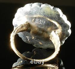 Antique Georgian Paste Large Ring Circa 1780