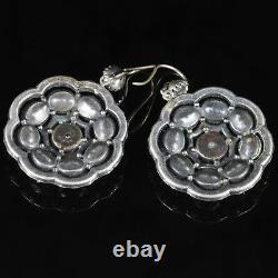 Antique Victorian Large Paste Earrings Circa 1900