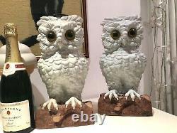 Antique white porcelain Large owl 13 oil lamp Meissen