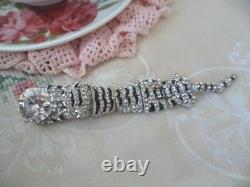 Art Deco Vintage Jewellery Large Silver Tiger Brooch Pin Antique Jewelry