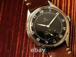 Authentic Swiss Omega Large 37.5 MM Swiss Manual Wind Ss Gents Watch Ref 2505