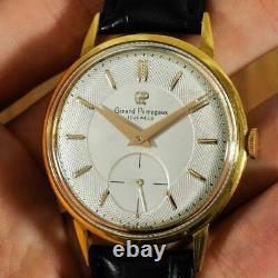 Authentic Vintage Girard Perregaux Large Gold Plated Manual Wind Gents Watch