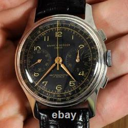 Bold Large Baume Mercier Chronograph Manual Wind Authentic 38 MM Gents Watch