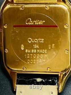 CARTIER PANTHERE 18kt gold Large MENS with original crocodile deployant clasp