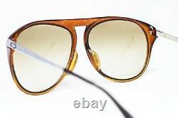CHRISTIAN DIOR Monsieur sunglasses 2092 large silver brown green aviator vintage