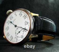 Converted from Pocket Chronometer Antique 1918 Large Watch Porcelain Dial