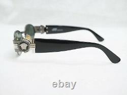 Gianni Versace S72 sunglasses vintage silver black oval large medusa head small