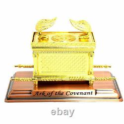 Gold Plated EXTRA LARGE ARK OF THE COVENANT Jewish Testimony Israel Judaica Gift