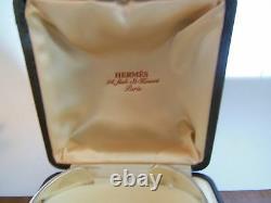 Hermes, VINTAGE, Large bracelet jonc ouvrant en argent MASSIF jewelry RARE