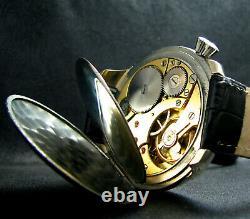 JUNGHANS Vintage WWII Era Large Driver's Wristwatch Deco Case