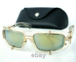 Jean Paul Gaultier 56-6202 sunglasses shield silver clear gold jpg vintage oval