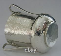 LARGE PLANNISHED STERLING SILVER ARTS & CRAFTS TYG CUP 1901 ANTIQUE 204g 3/4pint