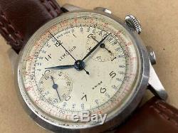 LEMANIA 1950s MILITARY STYLE CHRONOGRAPH LARGE VINTAGE MEN'S WATCH