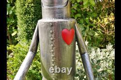 Large 135cm Metal Tin Man Figure Vintage Garden Sculpture Lawn Statue Ornament