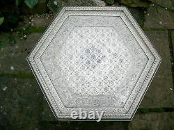 Large Decorative Islamic Hexagonal Side Table
