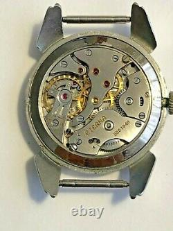 Large Mens Vintage Eterna Steel Watch with Claw Lugs