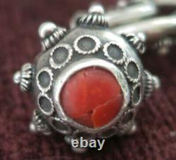 Large Vintage Italy 800 Silver Etruscan Cannetille Fob Bracelet -1 Opens, 54 Grm