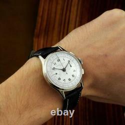 Large Vintage Original Baume Mercier Large Chronograph Manual Wind Gents Watch
