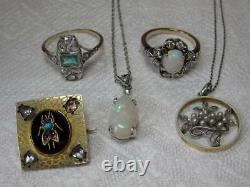 Locket Victorian Sterling Silver Aesthetic 2 Large Flower Engraved Gorgeous