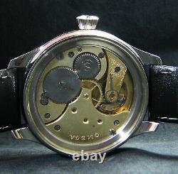 Luxury Mens Gift Art Deco Wristwatch Antique 1900's Chronometer Large Steel Case