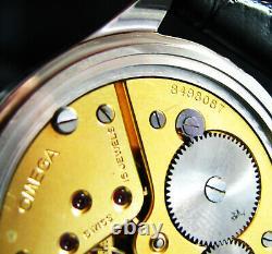 Luxury Mens Gift Art Deco Wristwatch Antique 1937 Chronometer Large Steel Case