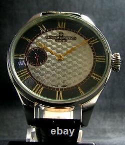 Luxury Mens Gift Deco Watch Antique 1910's Chronometer Large Steel Case