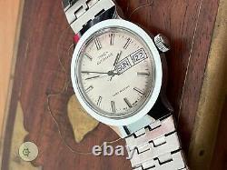Mens LARGE ALL ORIGINAL vintage AUTO D/D watch TIMEX viscount 1978 m109 SERVICED