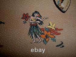 NWT Coach Rare Ltd. Ed. Vintage Hawaiian Palm Print Leather Tote Leatherware