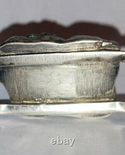 Nice Old Vintage Navajo Sterling Silver Raw Large Nugget Turquoise Bracelet