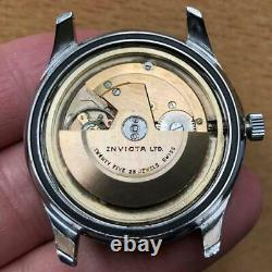 Original Gents Invicta World Time Automatic Date Large 39mm Steel Vintage Swiss