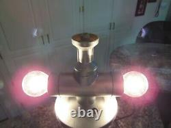 Original Vintage Lava Desk Lamp 18.5 Silver Base Deep Red Wax Clear Liquid