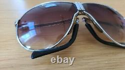 PORSCHE DESIGN CARRERA silver frame brown gradient 5622 sunglasses aviator fold