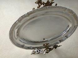 Paul Storr Large Antique Georgian Sterling Silver Meat Dish Platter 1814