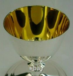 RARE LARGE ENGLISH SOLID STERLING SILVER TRAVELLING GOBLET CHALICE 1949 155g