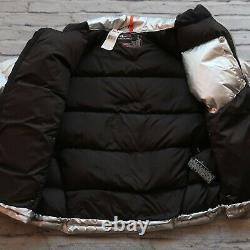 Ralph Lauren Polo Sport RLX Quilted Down Puffer Jacket Size M Silver Vtg