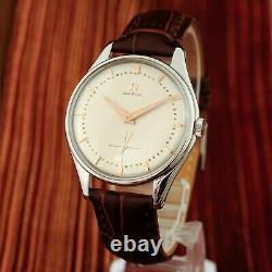 Real Vintage 1954' Omega Ref 2505 Large 38mm St Steel Manual Wind Gents Watch