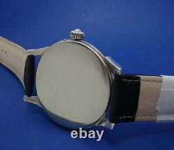 Regulateur MOLNIYA USSR OCEAN Flat Mechanical Watch 3602 Vintage Large Navy