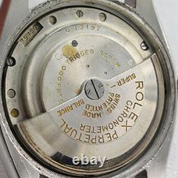 Rolex Vintage Large Bubbleback Ref 6075 Steel Circa 1951 Original Dial w Date