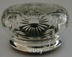 SUPERB ENGLISH SOLID STERLING SILVER LARGE POT BOX 1934 ANTIQUE 238g