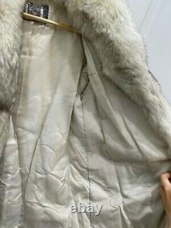 Saga silver fox fur coat vintage Size 10-14