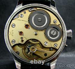 System Antique WWII NAVY U-BOAT KRIEGSMARINE Large Steel Watch