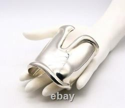 Tiffany & Co. 1975 By Elsa Peretti Vintage Large Left Bone Cuff Sterling Silver