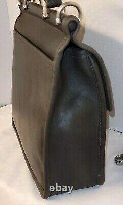 VINTAGE COACH WILLIS Satchel Crossbody Gray Leather 9927