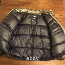 VTG Ralph Lauren Polo Sport jacket puffer down coat Silver Surfer Stadium Rare