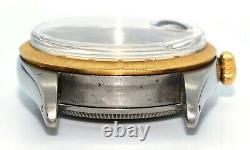 Vintage 1963 Rolex Date Just Large Bubble Back Leather Strap Ref 6305 Serviced